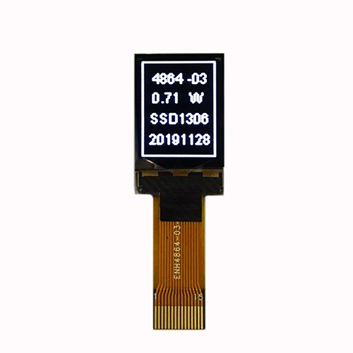 0.71 Inch White on Black Small OLED Display