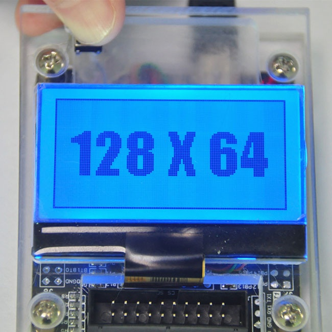 128x64 Resolution LCD Display