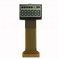 Black on White Segment LCD Display