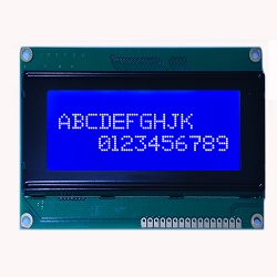 20x4 Blue Background Character LCD Display