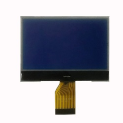Low Price White on Blue 128x64 dots LCD Display