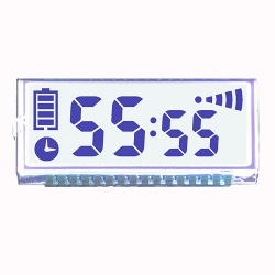 4 Digits 7 Segment LCD Monochrome LCD Display PIN Connection